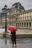 Rainy day in Paris — Stock Photo