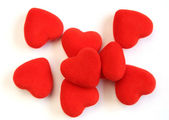 Pile of red hearts — Stock Photo