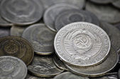 устаревшие советские монеты — Стоковое фото