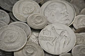 Soviet obsolete coins — Stock Photo