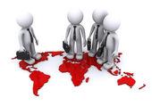 Global Team concept — Stock Photo