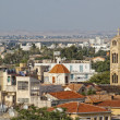 Top view at old part of Nicosia city — Stock Photo