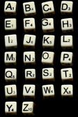 Letter dices — Stock Photo