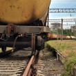 Train transports old tanks — Stock Photo #3952352
