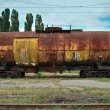 Train transports old tanks — Stock Photo #4136094