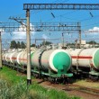 Transports tanks oil — Stock Photo