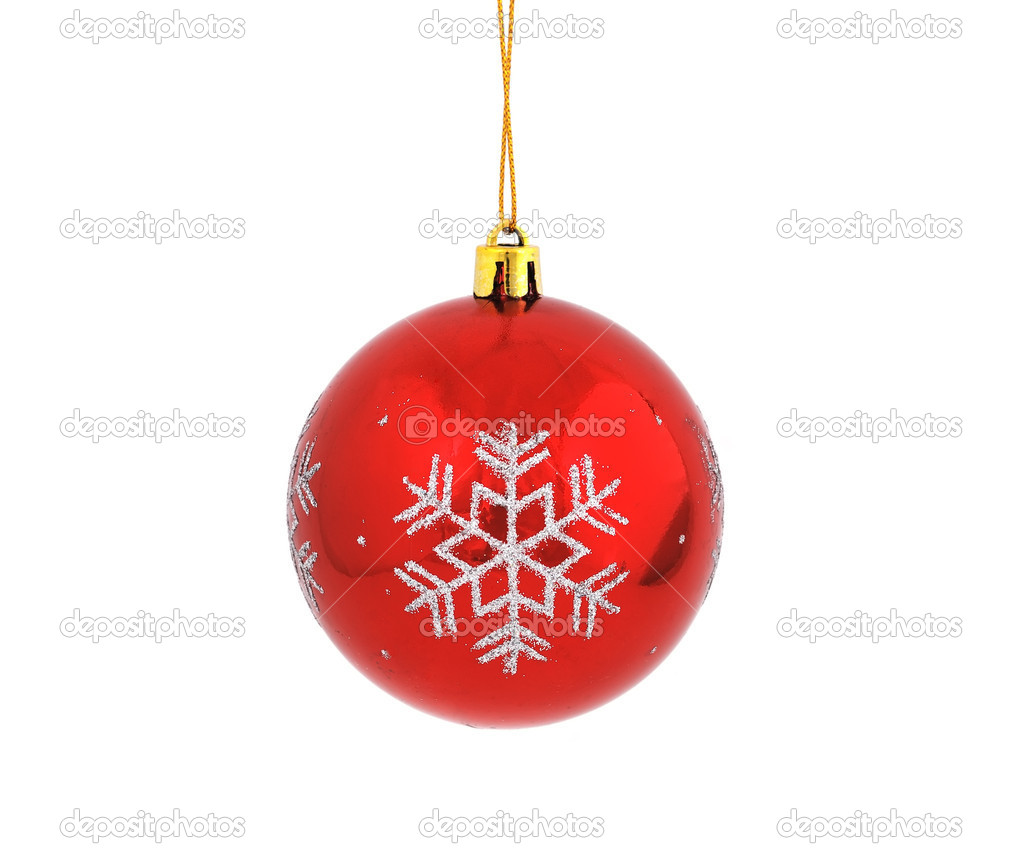 Christmas ball on white background — Stock Photo #4446651