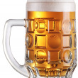 Mug full of fresh beer. File contains a path to cut. — Stockfoto