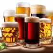 Still-life with beer glasses. - Stock Photo