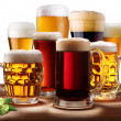 Still-life with beer glasses. — Stock Photo