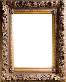 Baget old frame isolated on white — Stock Photo