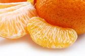 Mandarin slice close — Stock Photo