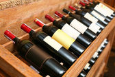 Closeup shot of wineshelf. — Stock Photo