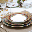 Refined table setting. - Foto de Stock