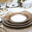 Refined table setting. - Stock Photo