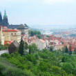 Red roofs of Prague's Old Town. - Stok fotoğraf