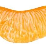 Slice of tangerine on white background — Stock Photo #4226174