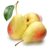 Three ripe pears. — Stock Photo