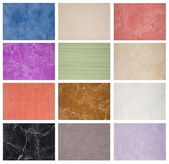 Samples of the texture of marble tiles — Stock Photo