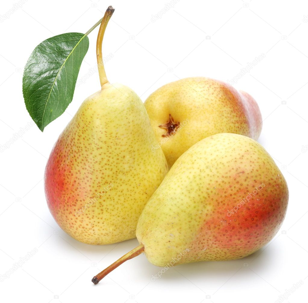 Ripe pears.Objects are isolated on a white background. — Stock Photo #4225978