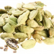 Cardamom seeds on a white background - Stock Photo