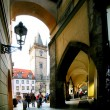 Prague. On stree of old town. - 图库照片
