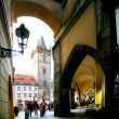 Prague. On stree of old town. - Zdjcie stockowe