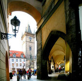 Prague. On stree of old town. — Stock Photo