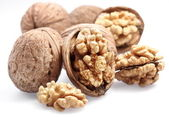 Walnuts isolated on a white background. — Stock Photo