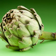 Artichoke on a green background - Stock Photo