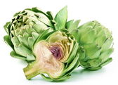 Artichoke on a white background — Stock Photo