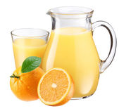 Orange juice and fruit. — Stock Photo