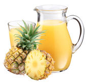 Pineapple juice and fruit. — Stock Photo