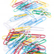 Royalty-Free Stock Photo: Group of colored paper clips. Isolated on a white background.