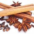 Cloves, anise and cinnamon isolated on white background. — Stock Photo #4639090