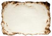 Queimado nas bordas papel texturizado contra isolado em um branco ba — Foto Stock