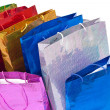 Colourful shoping bags. Isolated on white background. - Photo