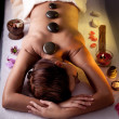 Young woman getting spa procedures. - Stok fotoğraf