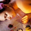 Young woman getting spa procedures. — Stock Photo