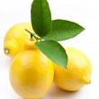 High-quality photo ripe lemons on a white background — Stock Photo #5006972