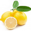 High-quality photo ripe lemons on a white background — Stock Photo #5007041