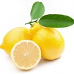 High-quality photo ripe lemons on a white background — Stock Photo