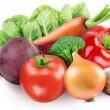 Stok fotoğraf: Image of fresh vegetables on white background