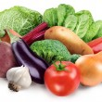 Image of fresh vegetables on white background — Stock Photo