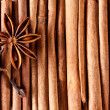 Texture image cinnamon sticks. - Stock Photo