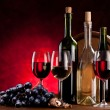 Foto Stock: Still life with wine bottles
