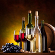 Still life with wine bottles — Stock Photo #5009766