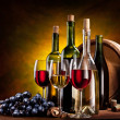 Stock Photo: Still life with wine bottles