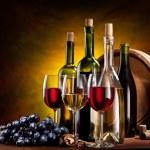 Still life with wine bottles — Stock Photo