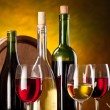 Stockfoto: Still life with wine bottles